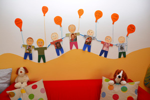 Kinder in der Spielgruppe Emmendingen Unterstadt